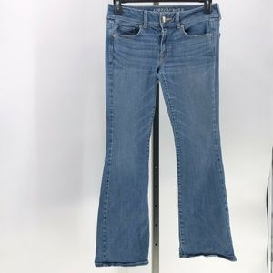 american eagle super stretch kick boot jeans 8 S